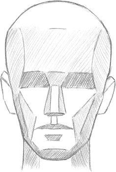 Realistic Drawings LEARNING THE PLANES OF THE FACE Once you understand the basic structure of the head, you can simplify the complex shapes of the skull int. Anatomy Sketches, Anatomy Drawing, Art Sketches, Basic Drawing, Life Drawing, Figure Drawing, Basics Of Drawing, Learn Drawing, Drawing Lessons