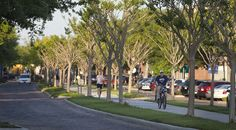 The West Orange Trail through Downtown Winter Garden, Florida.