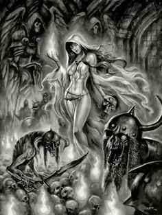 Lessons That Will Get You In The arms of The Man You love Badass Drawings, Dark Art Drawings, Tattoo Design Drawings, Gothic Fantasy Art, Fantasy Dragon, Grim Reaper Art, Knight Tattoo, Castle Tattoo, Beautiful Dark Art