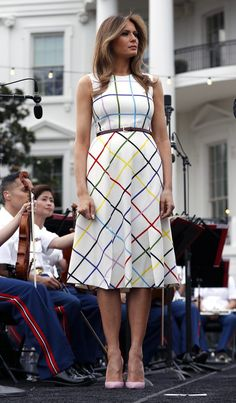 Melania at outdoor gathering