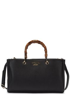 89ea2fb8b3d05f Bamboo black leather tote - New In Gucci Designer, Gucci Bamboo, Black  Leather Tote