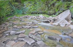 The Whispering Smoky Mountains, watercolor painting by Swati Singh