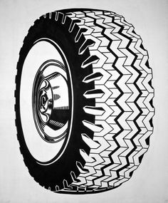 Roy Lichtenstein Tire, 1962 Oil on canvas, 68 x 58″ (172.7 x 147.3 cm).