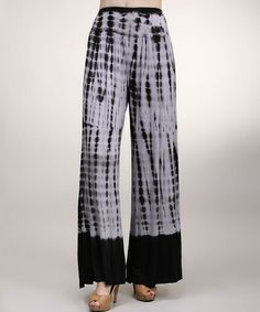 Look what I found on #zulily! Sky Blue & Black Tie-Dye Palazzo Pants by Urban X #zulilyfinds