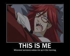 """Another reason why I'm Grell...///??? You must channel your inner gay man first or Flavio....that's the same thing what am I talking about?! """"Oh Bassy~!"""" //"""