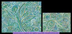 4x6 and 8x10 leafy swirly (matched set)
