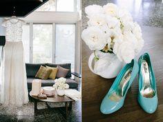 aqua wedding shoes - photo by Love Katie and Sarah - http://ruffledblog.com/bellarine-peninsula-wedding/