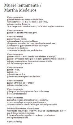 Muere Lentamente – Martha Medeiros (traducción del portugués al español)
