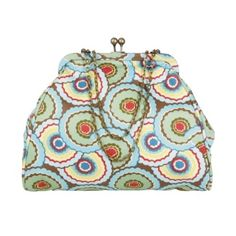 Chic Nora Clutch With Adjustable Chain Straps - Dancing Umbrellas Ultra Feminine!