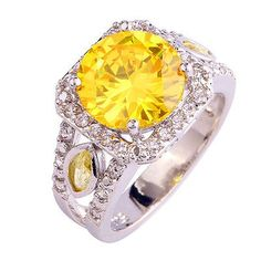 cool Chic Citrine White Topaz Gemstone Jewelry Silver Women Men Ring Size 7 8 9 10 - For Sale View more at http://shipperscentral.com/wp/product/chic-citrine-white-topaz-gemstone-jewelry-silver-women-men-ring-size-7-8-9-10-for-sale/