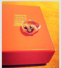 Engraved James Avery ring to ask to Prom ... WHAT AHH SO PERF