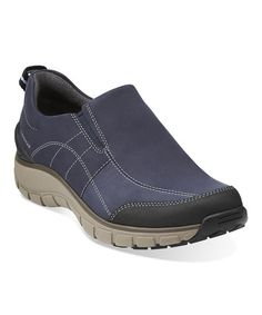 Loving this Navy Wave Brook Leather Slip-On Shoe on #zulily! #zulilyfinds