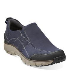 Love this Navy Wave Brook Leather Slip-On Shoe on #zulily! #zulilyfinds