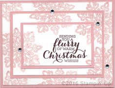 Stampin' Up! Christmas Cards - Flurry of Wishes stamp set