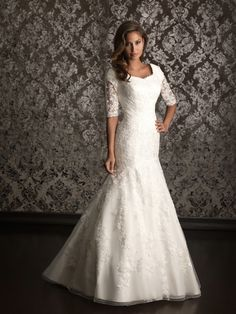 Allure Modest Wedding Dresses - Style M490 *winter wedding