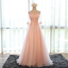 pink bridesmaid dress,chiffon evening dress,long prom dress,formal dress,women's long party dress