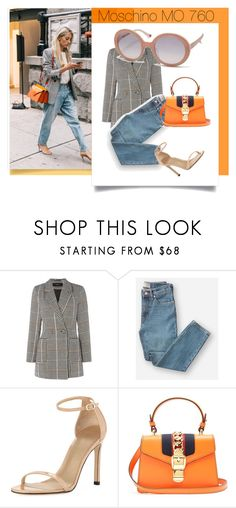 """""""Moschino MO"""" by visiondirect ❤ liked on Polyvore featuring Vero Moda, Everlane, Stuart Weitzman, Gucci and Moschino"""
