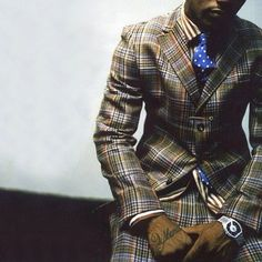 My grandfather had a suit just like this and I cant believe I want it now.  Colorful plaid, polka-dots, stripes