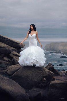 Disney Jasmine, Disney Belle, Disney Princess, Disney Wedding Gowns, Princess Wedding Dresses, Dream Wedding Dresses, Designer Wedding Dresses, Tulle Wedding, Mermaid Wedding