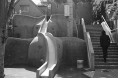 vintage Japanese design: a two-stage elephant slide (photo by yoakenobang)