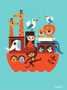 Ingela P Arrhenius illustrationer - prints - illustrationer til børn - udsmykning til børneværelset - poster til børneværelse - illustration...