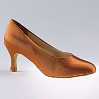 Freed of London has been making all their shoes by hand since 1928. From the Freed of London Wedding Collection comes the Freed of London satin pump court shoe with round vamp and semi-pointed toe. Includes padded insole, comfort lining and suede sole. 2.5 inch slim flare heel in tan or white satin. Comes in US Sizes 4 to 10, medium width. http://www.amazon.com/dp/B002Z1IZN6/?tag=icypnt-20