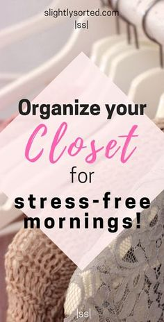 These are some great tips to help you organize your closet once and for all! As well as some of the usual tips, there are actually some really good suggestions here, and nifty little products I hadn't seen before to help organize your closet. I'm off to get sorting :)