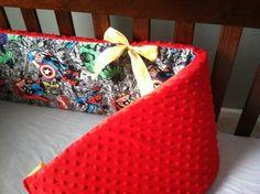 Super Hero Crib Bedding!  I could sew something like this...
