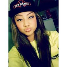 beautiful, dope, pretty girl swag, snapbacks ❤ liked on Polyvore featuring people, hair, girls, pictures and hairstyles