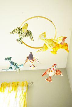 cross stitch ring for mobile! Nursery Ideas, Duke, Baby Kids, Cross Stitch, Birds, Babies, Ring, Children, Young Children