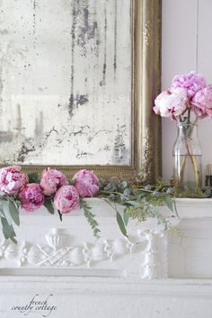 Mothers Day Mantel w