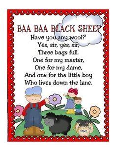 Baa Baa Black Sheep Clipart | Sheep nursery, Baa baa black sheep ...