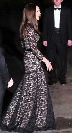 December 11, 2013: the Duchess Of Cambridge, Kate Middleton, Repeats Alice Temperley London Dress For David Attenborough Film