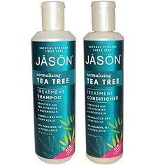 JASON All Nautral Organic Normalizing Tea Tree Shampoo and Conditioner Bundle For Flaky Scalp and Dandruff With Aloe Vera and Chamomille, Paraben Free, Vegan, Sulfate Free, 17.5 & 8 fl oz - http://essential-organic.com/jason-all-nautral-organic-normalizing-tea-tree-shampoo-and-conditioner-bundle-for-flaky-scalp-and-dandruff-with-aloe-vera-and-chamomille-paraben-free-vegan-sulfate-free-17-5-8-fl-oz/