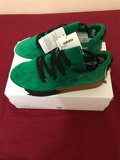 huge selection of db22a 07f27 BNWT ADIDAS AW GREEN SKATE SHOES UK 4.5 (M) US 5 (M) US 6 (W)