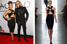 Kim Kardashian Is Already Wearing Spring 2014 Givenchy: Alicia Keys got ahold of this Spring 2014 Cushnie et Ochs LBD for the TAO Downtown Grand Opening in New York City Saturday.  Photos: Getty, IMAXtree