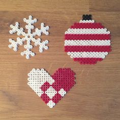 Christmas ornaments hama beads by mioumydarling
