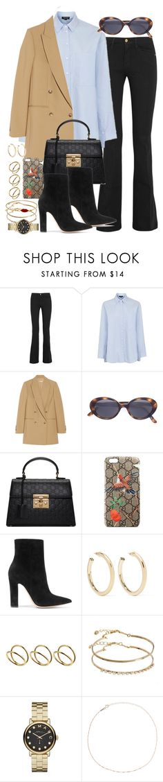 """Sin título #4339"" by hellomissapple ❤ liked on Polyvore featuring Frame, Topshop, Michael Kors, Oliver Peoples, Gucci, Gianvito Rossi, Kenneth Jay Lane, ASOS, Marc by Marc Jacobs and Catbird"