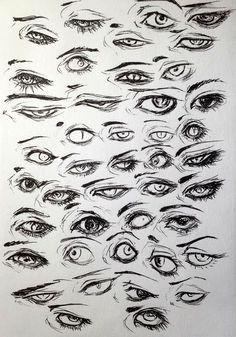 Desenhos, Mangá, Anime, Olhos, 43 Designs, Para Melhorar O Seu Desenho.