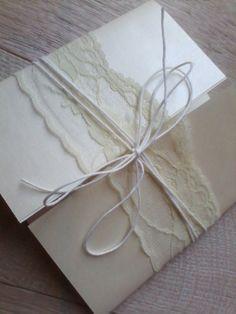 Partecipazioni matrimonio in pizzo -  wedding invite with lace