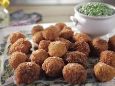Shrimp Croquettes with Creamed Green Peas recipe from Trisha Yearwood via Food Network