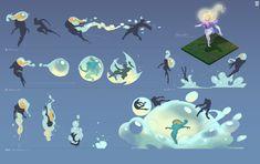 Game Character Design, Fantasy Character Design, Character Design Inspiration, Character Art, Digital Painting Tutorials, Art Tutorials, Magic Design, Weapon Concept Art, Art Poses