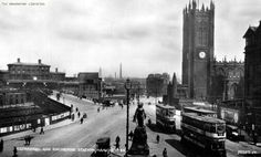 Cathedral pictured in 1920 Manchester