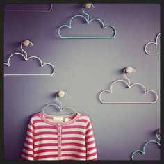 Cloud Hangers. Should try to make these from old dry cleaning hangers