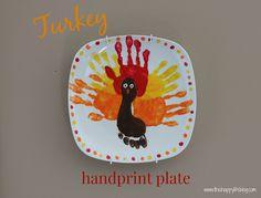 Turkey handprint plate