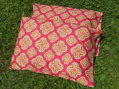 Pillow Case 2 pillow cases  Orange Floral by GreenMountainBoHo