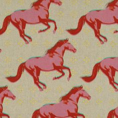 HALF YARD:Gallop Linen PINK with Metallic by ModernQuilter on Etsy
