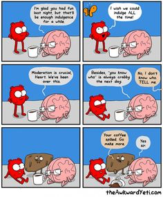Heart and Brain drink too much - Liver suffers
