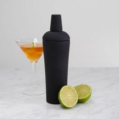 7 Cool Cocktail Shakers to Dress Up Your Bar | FWx Black Nuance Cocktail Shaker $40 williams-sonoma.com