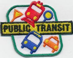 Girl Boy PUBLIC TRANSIT Bus Cab Subway Ride Fun Patches Crest Badges SCOUT GUIDE